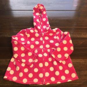 Children's Place Pink Polka Dot Fleece Hoodie